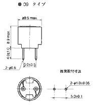 チョークコイル(寸法図)・・・09タイプ