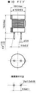 チョークコイル(寸法図)・・・10タイプ